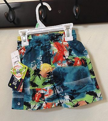 ca1880627b NR NWT Mick Mack Boys Toddler Swimwear Swim Trunks Shorts 18 months mos