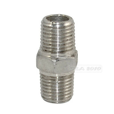 "1/4"" Male x 1/4""  Male Hex Nipple SS 304 Threaded Pipe Fitting NPT megairon"