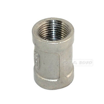 "3/8"" Female x 3/8"" Female Couple Stainless Steel 304 Threaded Pipe Fitting NPT"