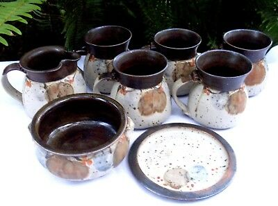 Stamped JUDY NASTOV Handcrafted POTTERY BULK SET VG Collectable - In Australia