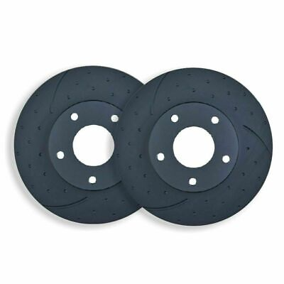 DIMPLED SLOTTED FRONT DISC BRAKE ROTORS for Toyota Hilux SR5 4WD 3/2005 on