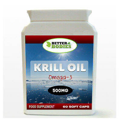 RED Krill Oil SUPERBA EXTRA STRENGTH 500mg 60 Capsules