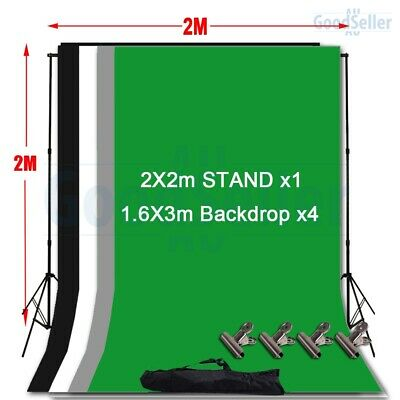 Photography Black White Green Grey Screen Backdrop Studio Video Background Stand