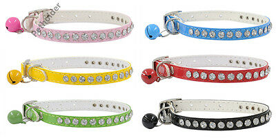 wholesale case lot 24 Dog Pet Cat Puppy Pu Leather Small Collar Crystal Diamonds