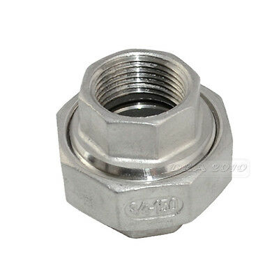 """3/4"""" Malleable Straight Union Coulping Pipe Fitting Stainless Steel SS304 F/F"""