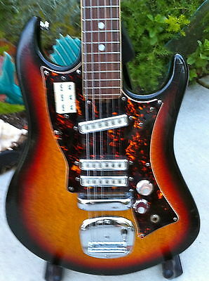 Rare Vintage 60's Norma Model Tv-993 Kawai Three Pickup Japanese Made W/ohsc