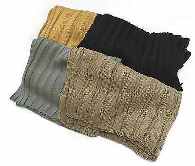 Unisex Men Women Simple Long Knitted Scarf Winter Warm Fashion Soft Comfortable
