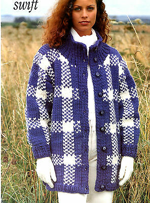e000f780bc25bd WOMENS ARAN sweater knitting pattern 99p pdf - £1.75