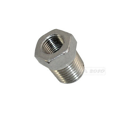 "3/8"" Male x 1/4"" Female Thread Reducer Bushing Pipe Fitting SS 304 NPT NEW"
