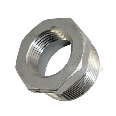"1-1/2"" Male x 1"" Female Threaded Reducer Bushing Pipe Fitting SS 304 NPT NEW"