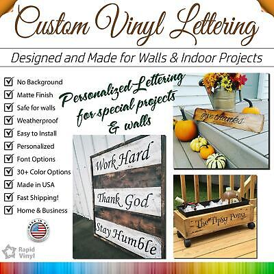 Custom Vinyl Lettering, Text, Name, Wall, Window Decal Sticker Art Personalized