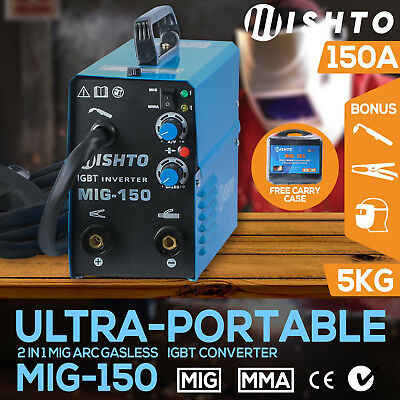 MIG Gasless Welder Inverter ARC 150 Amp 2 in 1 MIG Portable Welding Machine