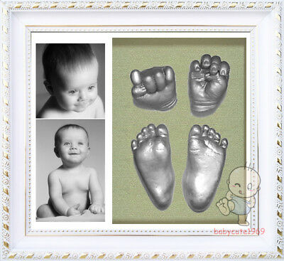 Baby Keepsake DIY 3D Casting Kit & Shadowbox photo frame    QQY