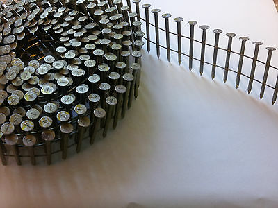 Conical Wire Collated Coil Nails. Bright, smooth. Fit Roll 60. 32mm, 45mm & 50mm