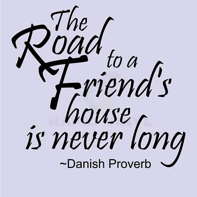 ROAD TO A FRIENDS HOUSE Wall Decal Wall Sticker Home Family Wall Art Decal