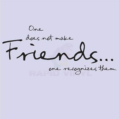 MAKE FRIENDS RECOGNIZE THEM Wall Decal Wall Sticker Home Family Wall Art Decal