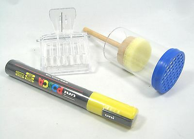 Yellow Beekeeping Queen marker set