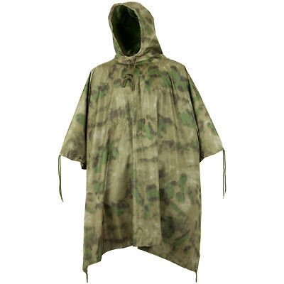 Mil-Tec Waterproof Hooded Festival Poncho Camping Military Cape Mil-Tacs FG Camo