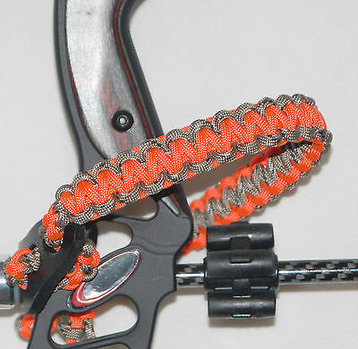 Neon Orange & Lost Camo Paracord archery Bow wrist strap Bling Sling USA Made