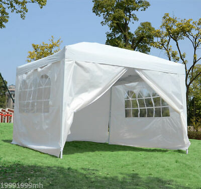 Outsunny 10'x10' Pop Up Party Tent Gazebo Marquee Canopy w/ Removable Sidewalls
