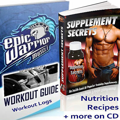 Muscle Bodybuilding Workout Exercise Fitness Program Meals +Supplement Secrets