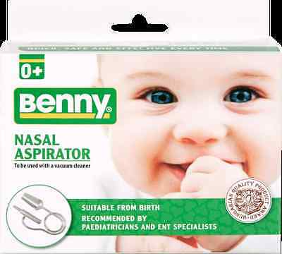 Benny Baby Nasal Vacuum Aspirator Suction Nose Cleaner