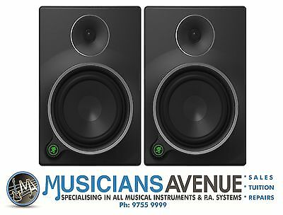 Mackie MR6 mk3 Studio Monitors PAIR! NEW! FREE DELIVERY AUSTRALIA WIDE!