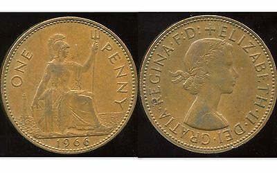 ROYAUME UNI  one penny 1966  bis