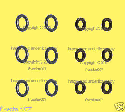 _6 Lower_+_6 Upper__12 Rubber O-Ring kit__Fuel Injector Nozzle Seal Set__for BMW