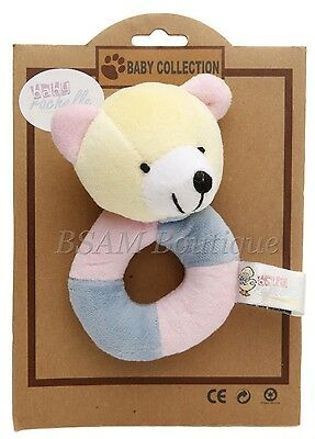 Brand New Baby's Soft Ring Rattle- Teddy Bear