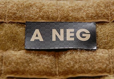 A NEG Blood Type IR Patch Infrared US Army Navy Air Force SEAL USN USAF Hook