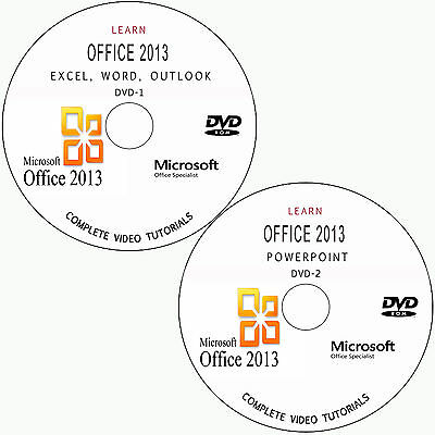 Learn Microsoft Office 2013-Word,excel,powerpoint,outlook Tutorial Training Dvd