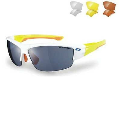 Sunwise Evenlode White Sunglasses With 4 Interchangeable Lenses