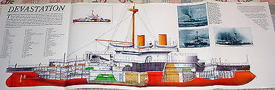 HUGE! HMS DEVASTATION POSTER picture warship ship navy