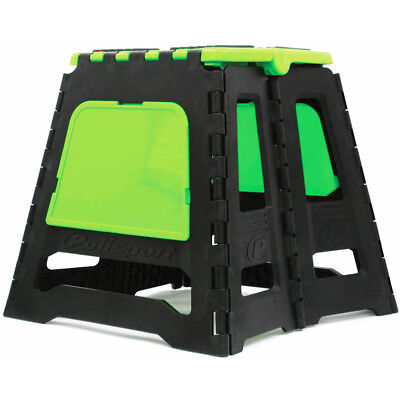 Polisport Mx Parts Accessories Motocross Green Folding Dirt Bike Motorbike Stand