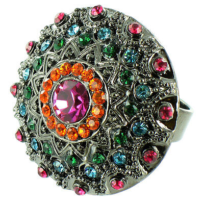 Round Asian Inspired Ring MORE COLOURS AVAILABLE