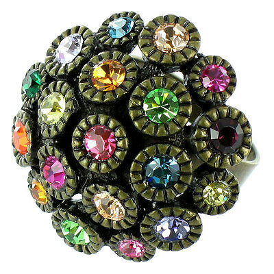 Round Embellished Carnival Ring MORE COLOURS AVAILABLE