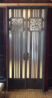 Antique Steel Gate Doors Complete Assembly Professionally Restored #7860