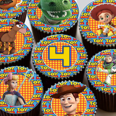 24 X HAPPY 7TH BIRTHDAY COLOURFUL AGE 7 EDIBLE CUPCAKE TOPPERS RICE PAPER CC7965