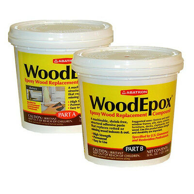 Abatron WoodEpox® Epoxy Wood Replacement Compound  2 Quarts DARK BROWN