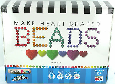 Make Beads - Make Heart Shaped Beads - Create From Scratch - Made In Usa - New