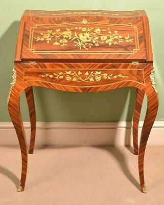 French Rosewood Louis XV Marquetry Bureau
