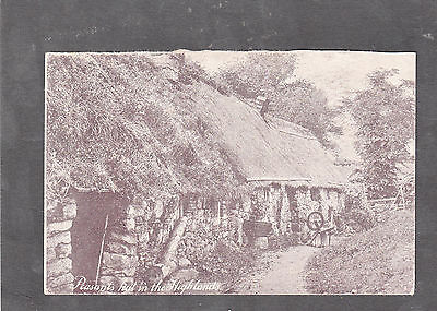 Postcard- View of Traditional Highland Hut C1930