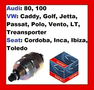 FUEL CUT-OFF, SOLENOID For VW CADDY,GOLF,JETTA,PASSAT,POLO,VENTO,TRANSPORTER