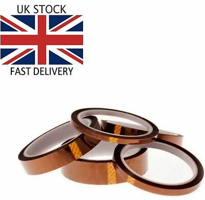 Polyimide ( Kapton® ) tape 10 mm x 33 mm Roll - Job lot off 50 - £99.99