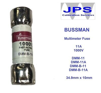 BUSS DMM-B-11A FUSE 1000V Replacement Fuse Fluke Testers and Test Leads JPSF033