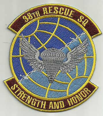 USAF United States Air Force 38th Rescue Squadron Military Patch 38RSQ
