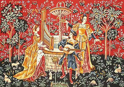 SEG de Paris Tapestry/Needlepoint Canvas – Concert at the fountain (XV Century)