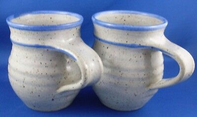 Hand-crafted Stamped BARHAM Australian POTTERY MUGS DUO Collectable In Australia