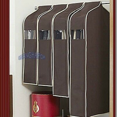 Suit Coat Jacket Cover Garment Bag Storage Protector Clothes Hanging Coffee Big